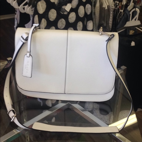 34aa9faaf17 Maude Vivante Bags   White Flap Crossbody Bag   Poshmark